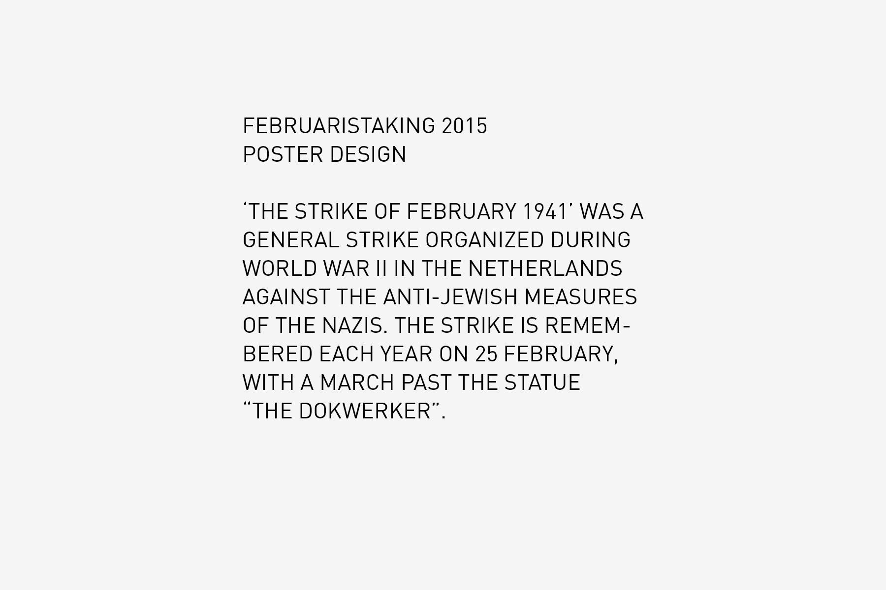 JAN ROTHUIZEN-Februaristaking