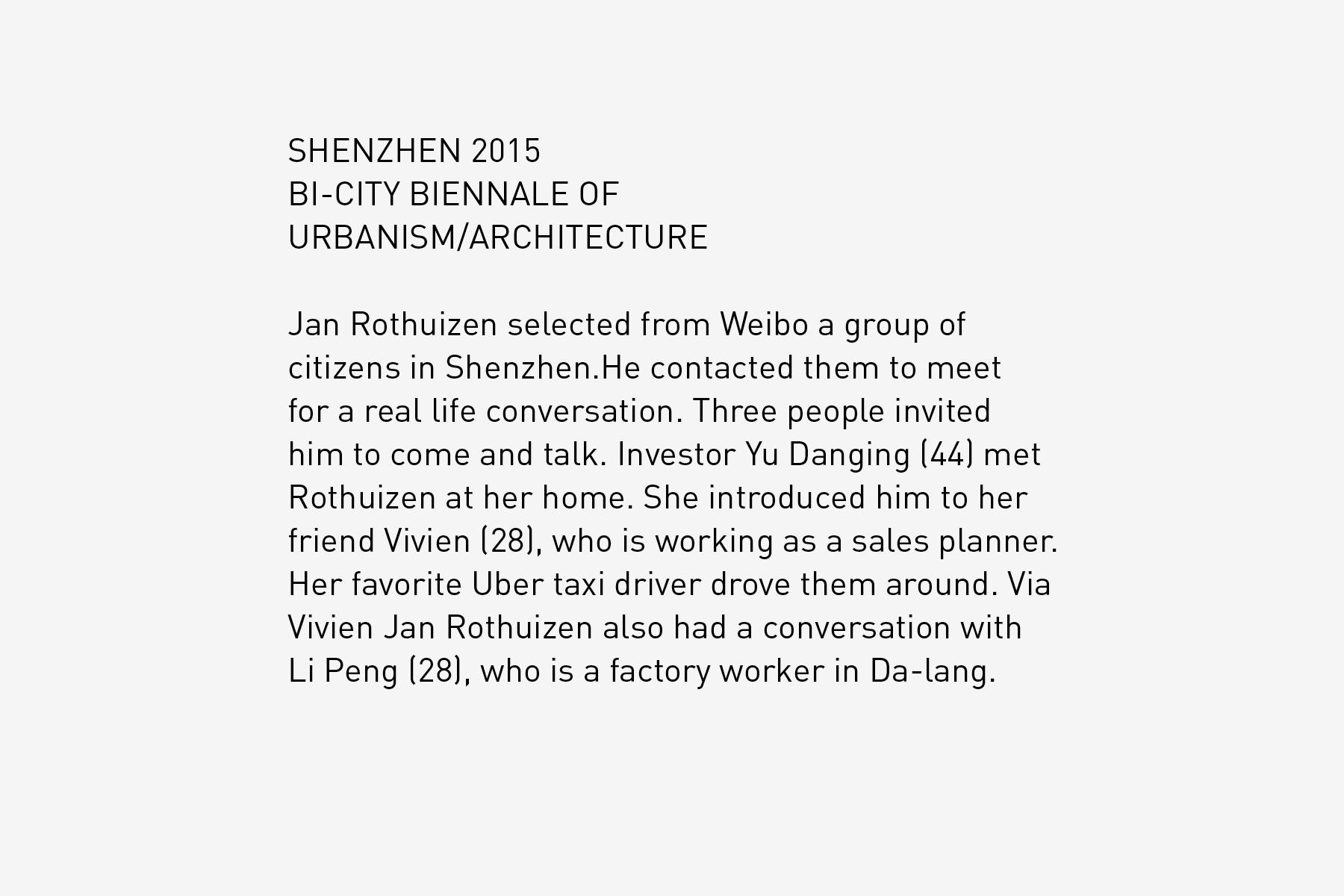 JAN ROTHUIZEN-Shenzhen