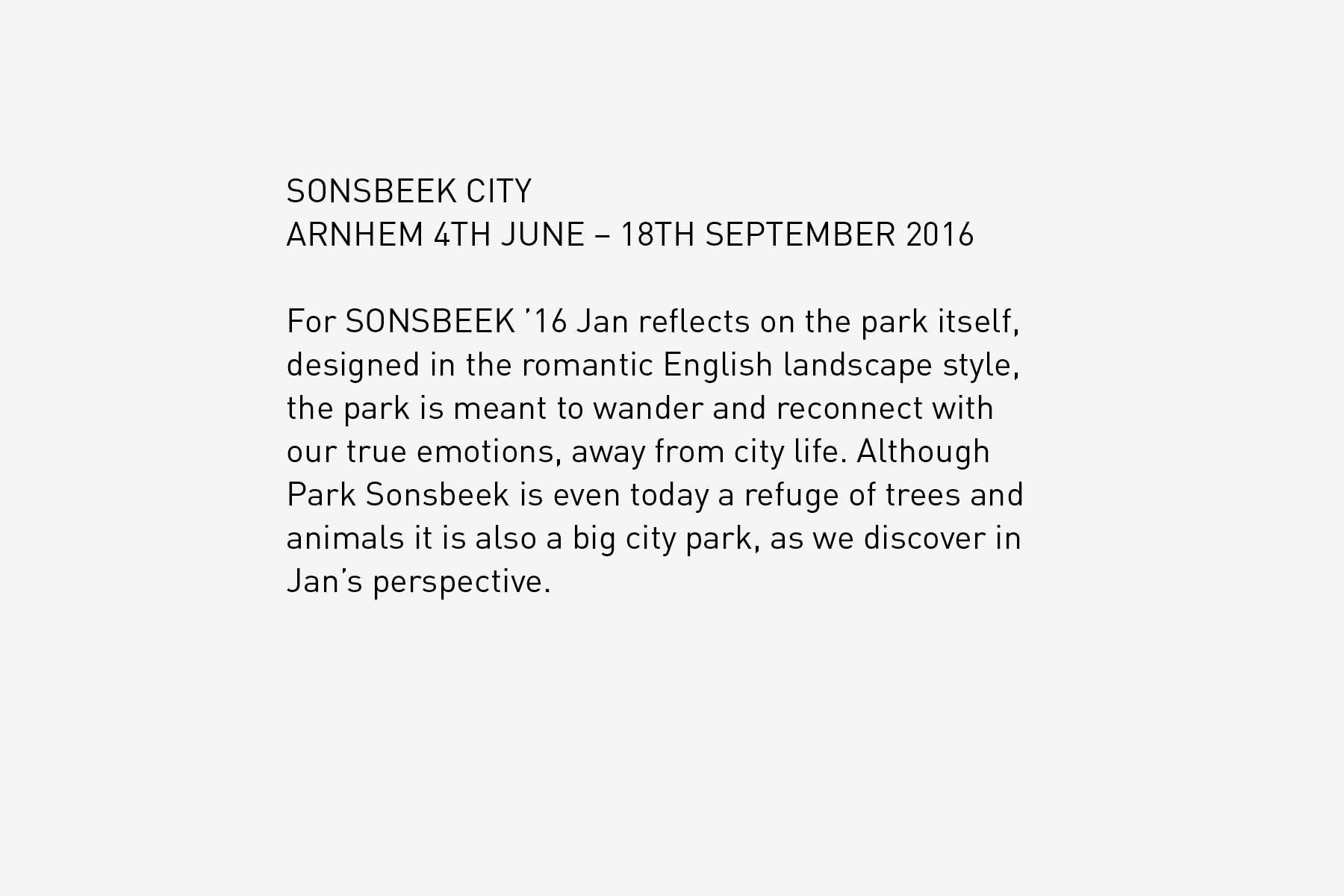 JAN ROTHUIZEN-Sonsbeek City